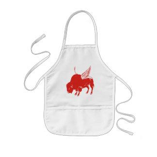 Alas de búfalo delantal infantil