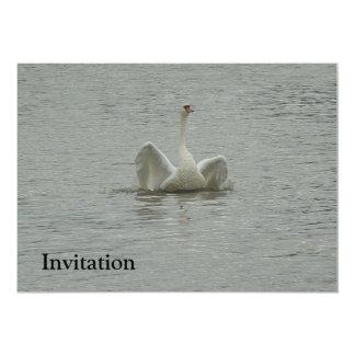"""alas de Cisne-elevación Invitación 5"""" X 7"""""""