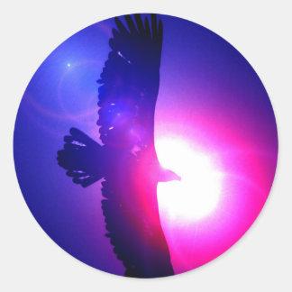 Alas de Eagle - Eagle en vuelo Pegatina Redonda
