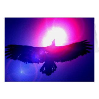 Alas de Eagle - Eagle en vuelo Tarjeta De Felicitación
