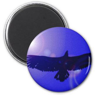 Alas de Eagle Imán Redondo 5 Cm
