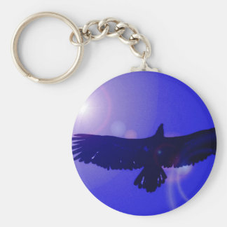Alas de Eagle Llavero Redondo Tipo Pin