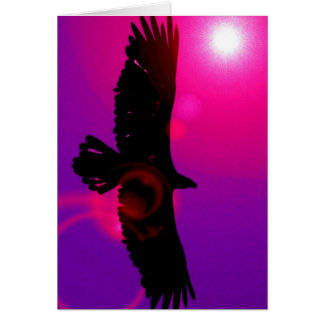 Alas de Eagle Tarjeta De Felicitación