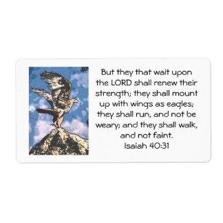 Alas de Eagles - 40:31 de Isaías Etiquetas De Envío