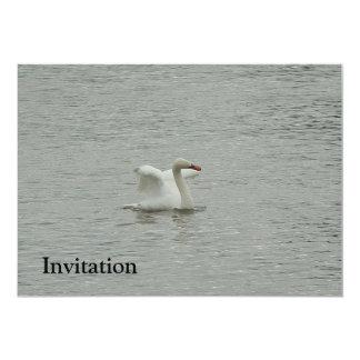 """Alas de elevación del cisne invitación 5"""" x 7"""""""