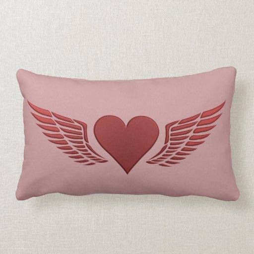 Alas de la almohada de tiro de encargo del amor