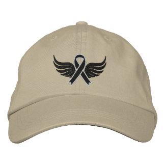 Alas de la cinta del melanoma gorra de béisbol bordada