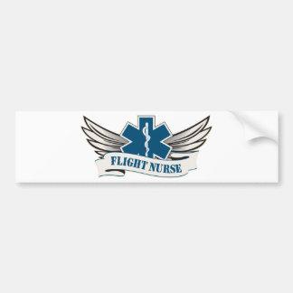 alas de la enfermera del vuelo pegatina de parachoque