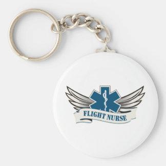 alas de la enfermera del vuelo llavero personalizado