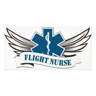 alas de la enfermera del vuelo tarjetas fotograficas personalizadas