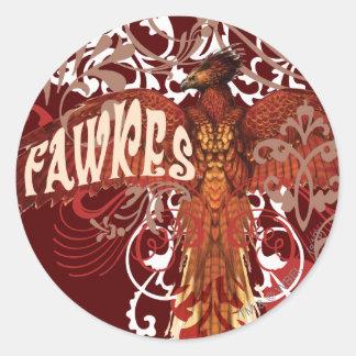 Alas de la extensión de Fawkes Pegatina Redonda