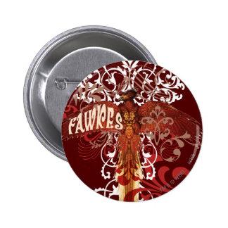 Alas de la extensión de Fawkes Pin Redondo De 2 Pulgadas