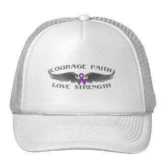 Alas de la fe del valor de la epilepsia gorras de camionero