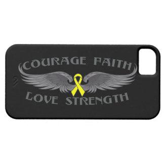 Alas de la fe del valor del osteosarcoma iPhone 5 protectores