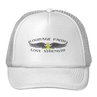 Alas de la fe del valor del osteosarcoma gorras