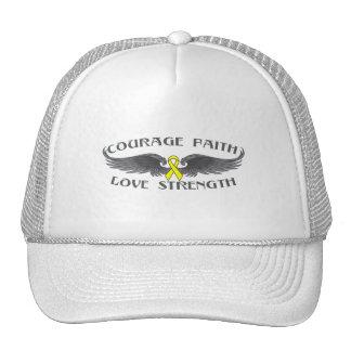 Alas de la fe del valor del osteosarcoma gorras de camionero