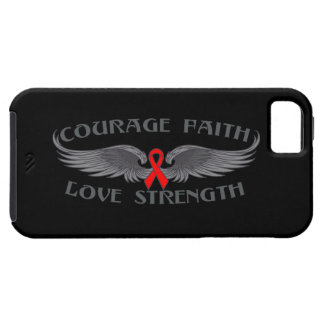 Alas de la fe del valor del VIH del SIDA iPhone 5 Case-Mate Cárcasa