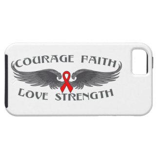Alas de la fe del valor del VIH del SIDA iPhone 5 Case-Mate Fundas