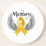 Alas de la victoria - cáncer del apéndice posavaso para bebida