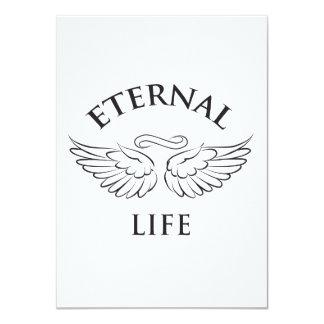 """Alas de la vida eterna invitación 4.5"""" x 6.25"""""""