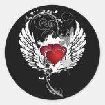 Alas de los corazones del Grunge Etiqueta