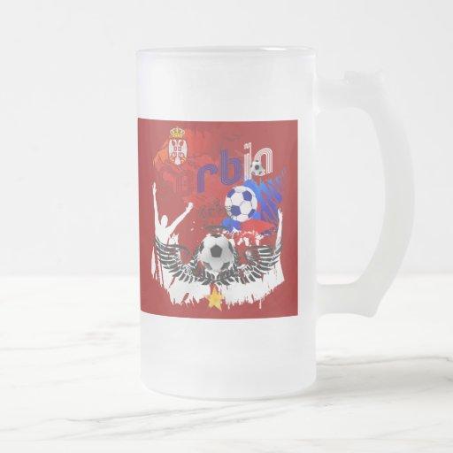 Alas de los regalos del jugador de fútbol de Serbi Taza Cristal Mate