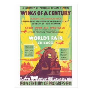 Alas de una feria de mundo de Chicago del siglo Tarjetas Postales