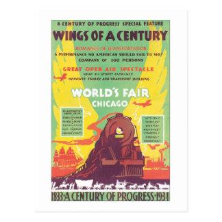 Alas de una feria de mundo del siglo Chicago Tarjetas Postales