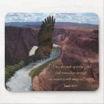 Alas del 40:31 de Isaías como Eagles Alfombrillas De Raton