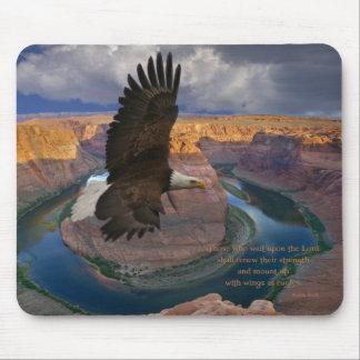 Alas del 40:31 de Isaías como Eagles Alfombrilla De Ratón