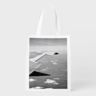 alas del aeroplano del grayscale bolsas para la compra