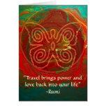 Alas del Amor-Rumi y del arte poético Tarjetón