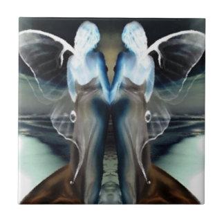 Alas del ángel azulejo cuadrado pequeño