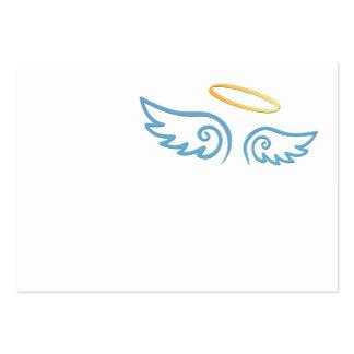 Alas del ángel de azules cielos con halo tarjeta de visita