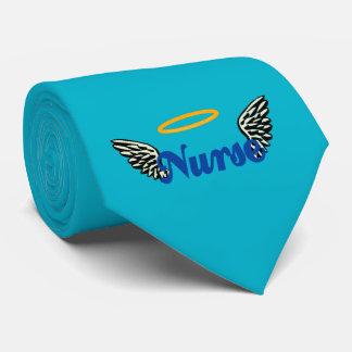 Alas del ángel de la enfermera corbata personalizada