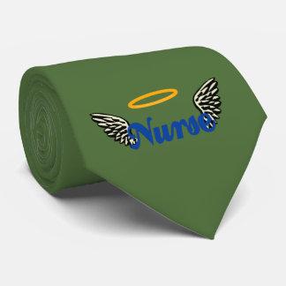 Alas del ángel de la enfermera corbatas personalizadas