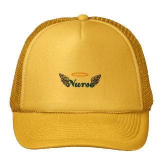 Alas del ángel de la enfermera gorras de camionero