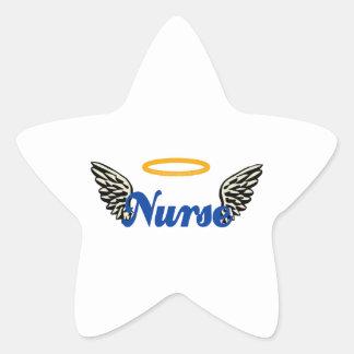 Alas del ángel de la enfermera pegatina en forma de estrella