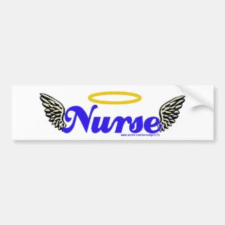 Alas del ángel de la enfermera pegatina para auto