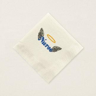 Alas del ángel de la enfermera servilleta de papel