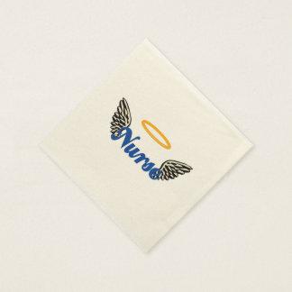 Alas del ángel de la enfermera servilletas de papel