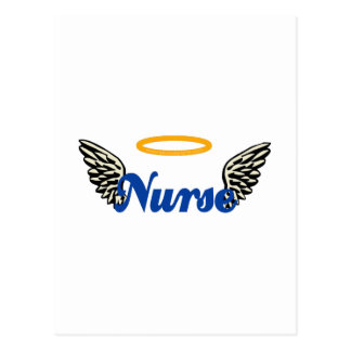 Alas del ángel de la enfermera tarjetas postales