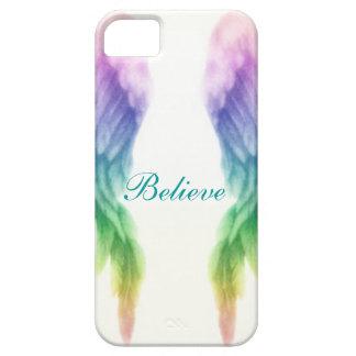Alas del ángel del arco iris iPhone 5 funda