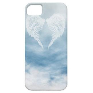Alas del ángel en cielo azul nublado iPhone 5 cárcasas
