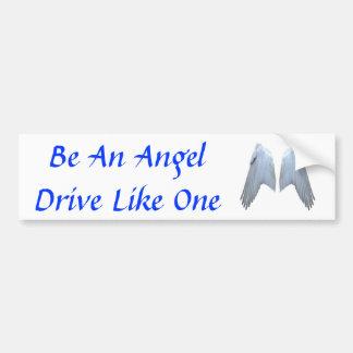 Alas del ángel pegatina para auto