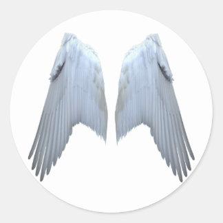 Alas del ángel pegatina redonda