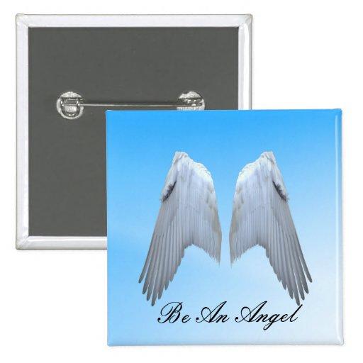 Alas del ángel pin cuadrado