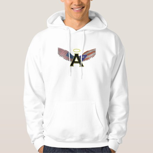 Alas del ángel pulóver con capucha