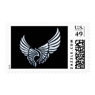 Alas del ángel sello postal