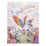 Alas del arco iris tarjetas postales